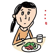 摂食障害で拒食症の女性