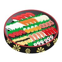 寿司桶に入った豪華なにぎり寿司