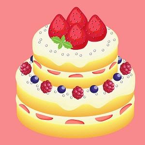 豪華なデコレーションケーキ