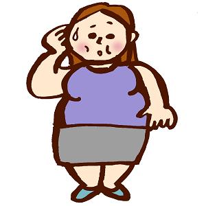 肥満症の太った女性