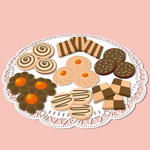 山盛りのいろいろなクッキー