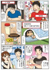 双極性障害が断糖肉食とサプリで治った男性の体験談の漫画