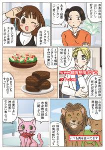 赤身肉の摂取を減らすことには意味がないという内容の漫画